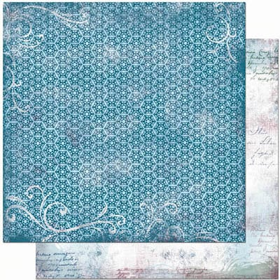 Bo Bunny Press - Midnight Frost Collection - Christmas - 12 x 12 Double Sided Paper - Midnight Frost Ice