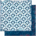 Bo Bunny Press - Midnight Frost Collection - Christmas - 12 x 12 Double Sided Paper - Midnight Frost Dot