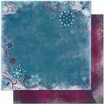Bo Bunny Press - Midnight Frost Collection - Christmas - 12 x 12 Double Sided Paper - Midnight Frost Moonlight