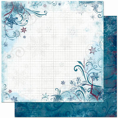 Bo Bunny Press - Midnight Frost Collection - Christmas - 12 x 12 Double Sided Paper - Midnight Frost Powder