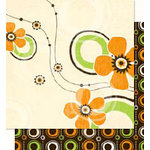 Bo Bunny Press - Mango Luau Collection - 12 x 12 Double Sided Paper - Mango Luau Babe