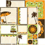 Bo Bunny Press - Mango Luau Collection - 12 x 12 Double Sided Paper - Mango Luau Cut Outs