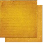Bo Bunny - Double Dot Designs - 12 x 12 Double Sided Paper - Vintage - Maize