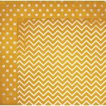 Bo Bunny - Double Dot Designs Collection - 12 x 12 Double Sided Paper - Chevron - Maize