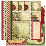 Bo Bunny Press - Noel Collection - Christmas - 12 x 12 Double Sided Paper - Noel Cut Outs