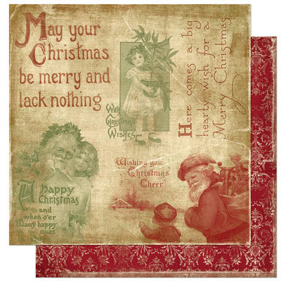 Bo Bunny Press - Noel Collection - Christmas - 12 x 12 Double Sided Paper - Noel Cheer