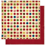 Bo Bunny Press - Noel Collection - Christmas - 12 x 12 Double Sided Paper - Noel Dot