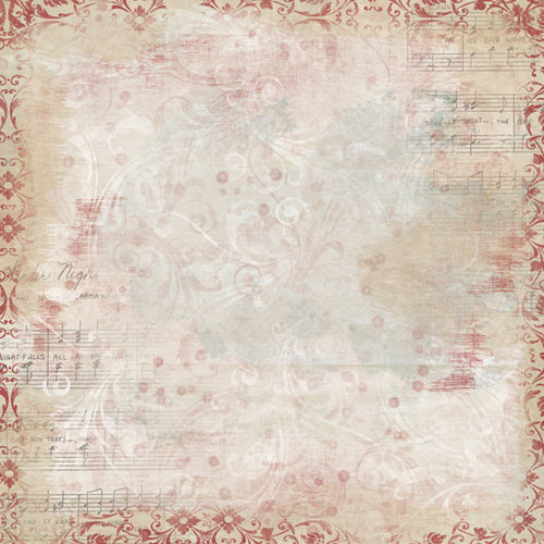 Bo Bunny Press - Snowy Serenade Collection - 12 x 12 Glittered Paper - Snowy Serenade Overture
