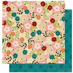 Bo Bunny Press - Olivia Collection - 12 x 12 Double Sided Paper - Olivia Ambrosia
