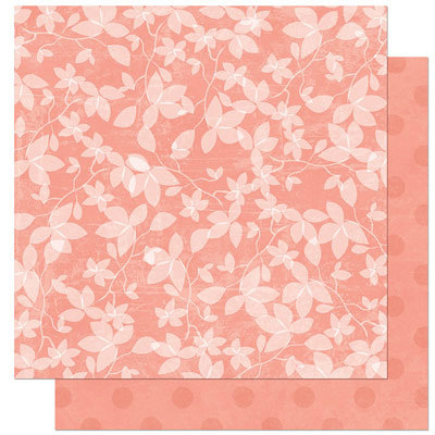 Bo Bunny Press - Olivia Collection - 12 x 12 Double Sided Paper - Olivia Cashmere