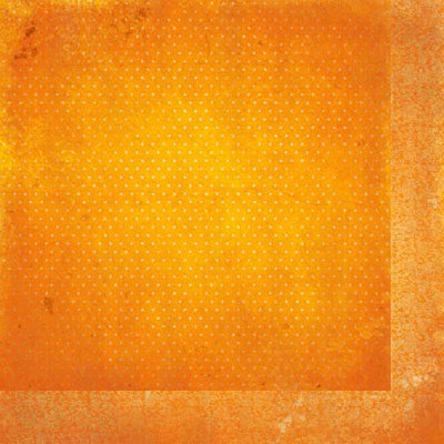 Bo Bunny - Double Dot Designs Collection - 12 x 12 Double Sided Paper - Vintage - Orange Citrus