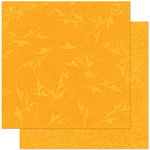 Bo Bunny Press - Double Dot Designs Collection - 12 x 12 Double Sided Paper - Flourish - Orange Citrus