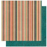 Bo Bunny Press - Olivia Collection - 12 x 12 Double Sided Paper - Olivia Stripe