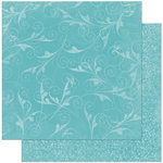 Bo Bunny - Double Dot Designs Collection - 12 x 12 Double Sided Paper - Flourish - Ocean