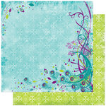 Bo Bunny Press - Peacock Lane Collection - 12 x 12 Double Sided Paper - Peacock Lane