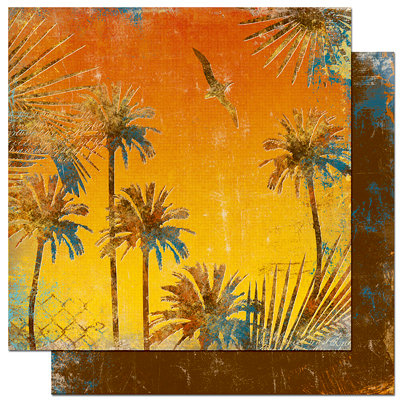 Bo Bunny Press - Paradise Collection - 12 x 12 Double Sided Paper - Paradise