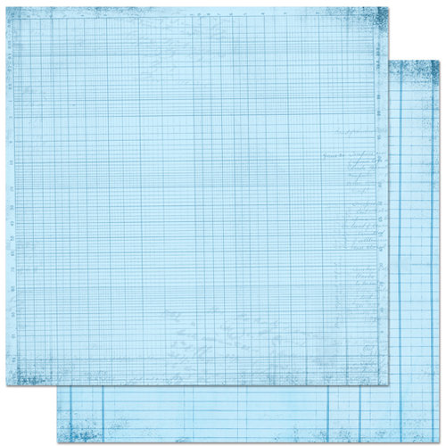 Bo Bunny Press - Double Dot Designs Collection - 12 x 12 Double Sided Paper - Journal - Powder Blue