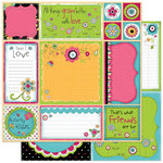Bo Bunny Press - Petal Pushers Collection - 12 x 12 Double Sided Paper - Petal Pushers Cut Outs