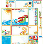 Bo Bunny Press - Popsicle Collection - 12 x 12 Double Sided Paper - Popsicle Cut Outs