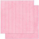 Bo Bunny Press - Double Dot Designs Collection - 12 x 12 Double Sided Paper - Stripe - Passion Fruit