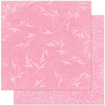 Bo Bunny - Double Dot Designs Collection - 12 x 12 Double Sided Paper - Flourish - Passion Fruit