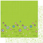 Bo Bunny Press - Petal Pushers Collection - 12 x 12 Double Sided Paper - Petal Pushers Garden