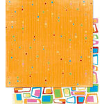Bo Bunny Press - Popsicle Collection - 12 x 12 Double Sided Paper - Juicy Orange