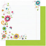 Bo Bunny Press - Petal Pushers Collection - 12 x 12 Double Sided Paper - Petal Pushers Notes