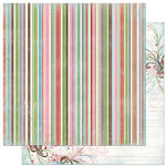 Bo Bunny Press - Persuasion Collection - 12 x 12 Double Sided Paper - Persuasion Stripe