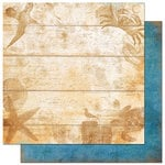 Bo Bunny Press - Paradise Collection - 12 x 12 Double Sided Paper - Paradise Pier, CLEARANCE