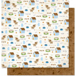Bo Bunny Press - Pet Shop Collection - 12 x 12 Double Sided Paper - Pet Shop Doggy