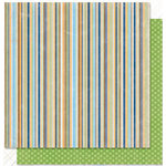 Bo Bunny Press - Pet Shop Collection - 12 x 12 Double Sided Paper - Pet Shop Stripe, CLEARANCE