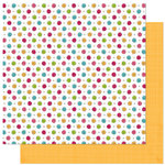 Bo Bunny Press - Petal Pushers Collection - 12 x 12 Double Sided Paper - Petal Pushers Dot