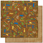 Bo Bunny Press - Roughin' It Collection - 12 x 12 Double Sided Paper - Roughin' It Happy Camper