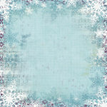 Bo Bunny Press - Snowy Serenade Collection - 12 x 12 Glittered Paper - Snowy Serenade Serenity, BRAND NEW