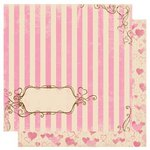 Bo Bunny - Smoochable Collection - 12 x 12 Double Sided Paper - Smoochable