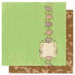 Bo Bunny Press - Smoochable Collection - 12 x 12 Double Sided Paper - Heart Beat