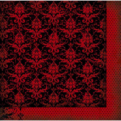 Bo Bunny - Serenity Collection - 12 x 12 Double Sided Paper - Damask