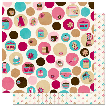 Bo Bunny - Sweet Tooth Collection - 12 x 12 Double Sided Paper - Dot