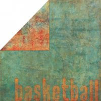 Bo Bunny Press - Slam Dunk Basketball Collection - 12x12 Double Sided Paper - BBall