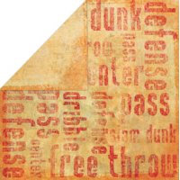 Bo Bunny Press - Slam Dunk Basketball Collection - 12x12 Double Sided Paper - Free Throw