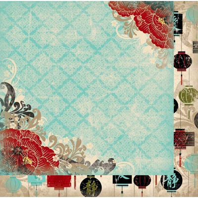 Bo Bunny - Serenity Collection - 12 x 12 Double Sided Paper - Garden