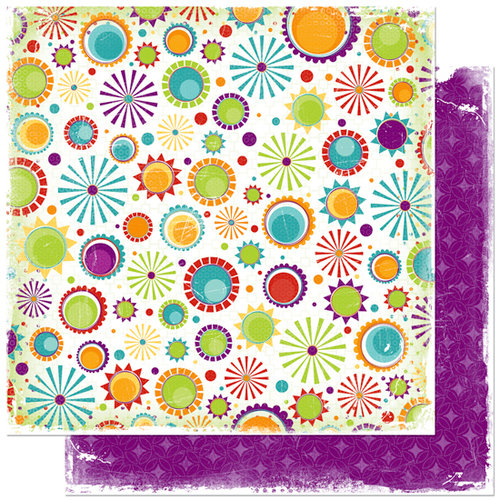 Bo Bunny Press - Sun Kissed Collection - 12 x 12 Double Sided Paper - Sun Kissed