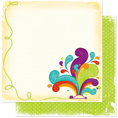 Bo Bunny Press - Sun Kissed Collection - 12 x 12 Double Sided Paper - Sun Kissed Splash Zone