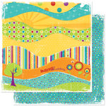 Bo Bunny Press - Sun Kissed Collection - 12 x 12 Double Sided Paper - Sun Kissed Adventure