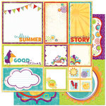 Bo Bunny Press - Sun Kissed Collection - 12 x 12 Double Sided Paper - Sun Kissed Cut Outs