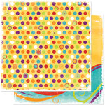 Bo Bunny Press - Sun Kissed Collection - 12 x 12 Double Sided Paper - Sun Kissed Dot