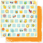Bo Bunny Press - Sun Kissed Collection - 12 x 12 Double Sided Paper - Sun Kissed Party