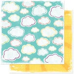 Bo Bunny Press - Sun Kissed Collection - 12 x 12 Double Sided Paper - Sun Kissed Skies