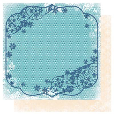 Bo Bunny Press - Snowfall Collection - 12 x 12 Double Sided Paper - Chill